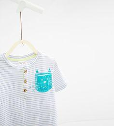Image 3 of Cat print T-shirt from Zara