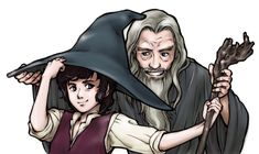 Frodo Bolsón, Gandalf, Fanart, Middle Earth, Lord Of The Rings, Tolkien, Lotr, The Hobbit, Bible