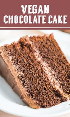 This is THE BEST Vegan Chocolate Cake Recipe that you will ever find It s rich and decadent and perfect for holiday baking My favorite vegan cake cake vegan baking chocolate Vegan Baking Recipes, Vegan Dessert Recipes, Easy Cake Recipes, Cooking Recipes, Best Vegan Cake Recipe, Eggless Cake Recipe Video, Cake Recipes At Home, Vegan Lemon Cake, Best Vegan Desserts