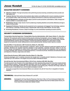 Security Officer Resume Sample Police Officer Resume Sample Objective …  Pinteres…