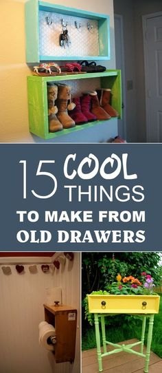 Make 15 cool things out of old drawers → - Upcycled Furniture Ideas Refurbished Furniture, Repurposed Furniture, Furniture Makeover, Dresser Repurposed, Furniture Projects, Diy Furniture, Diy Projects, Furniture Stores, Furniture Online