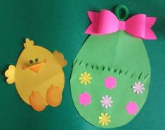 Easter handicraft ideas with patterns - Crafts with children Easter Activities, Preschool Crafts, Easter Crafts For Kids, Diy For Kids, Spring Coloring Pages, Easter Specials, Diy Ostern, Easter Projects, Easter Art