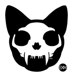 Cat Skull Art Print                                                                                                                                                                                 More