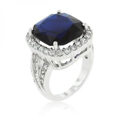 Deep Blue Sapphire Engagement Ring – MNM Gifts