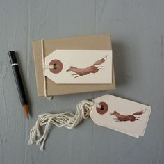 Loving these leaping fox gift tags