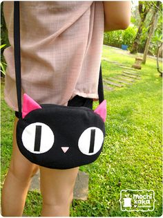 Cat bag from kikis delivery service Gigi Bags, My Bags, Purses And Bags, Animal Bag, Cat Bag, Bike Bag, Stylish Kids, Cloth Bags, Sewing For Kids