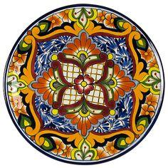 Talavera Cena placa de cerámica - a mano en México