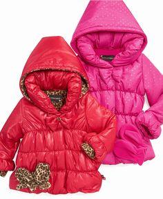 Love these coats! S. Rothschild Kids Jacket, Little Girls Bow Puffer Coats - Kids Girls 2-6X - Macy's $80.00 #MacysBTS
