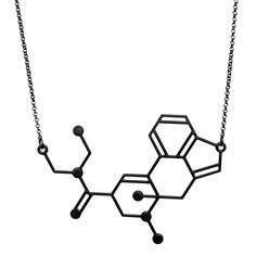 The LSD Molecule Necklace by Aroha Silhouettes