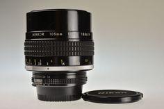 NIKON AI-S NIKKOR 105mm f/1.8 Excellent #Nikon
