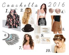 """""""Coachella 2016"""" by nicolinehammersholt on Polyvore featuring ASOS, NLY Accessories, Ray-Ban and Boohoo"""