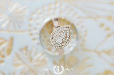 Pear shaped rose gold wedding ring