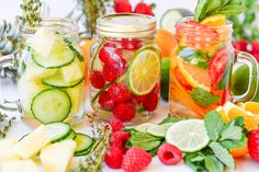 The three fruit infused water recipes will make you sparkle with health!