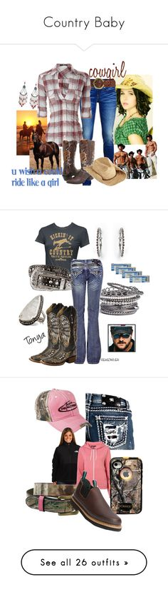 """""""Country Baby"""" by cassie-88 ❤ liked on Polyvore featuring True Religion, Lucky Brand, Durango, San Diego Hat Co., MANGO, Natasha, Miss Me, Blazin Roxx, Roper and Pamela Love"""