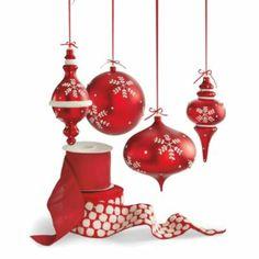 Set of Two Shatterproof Snowflake Ornaments