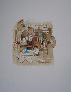 Título: Sin título  Autor: Alvaro Galindo Vácha  Dimensiones: 30 x 23 cm  Técnica: Acuarela sobre papel  Año: 2004  Firmado: Frente y Revés