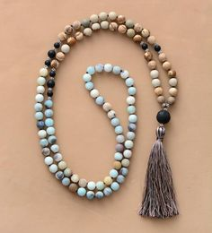 Shop for Mala Necklace Online - Lila's Beauty Bag Diy Jewelry Necklace, Gold Choker Necklace, Agate Necklace, Cool Necklaces, Multi Strand Necklace, Necklace Types, Handmade Necklaces, Boho Jewelry, Beaded Necklaces