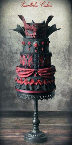 Vampire masquerade cake by Tamara