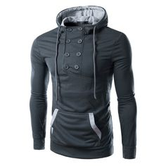 Double Breasted Hoodie. Hoodie JacketMens SweatshirtsMens  FashionJacketsClothesSweatshirtsMenFashionModa Masculina 56399e7091