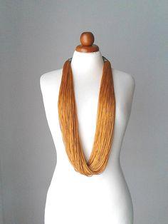 Statement necklace gold statement necklace multi strand necklace gold multi strand necklace