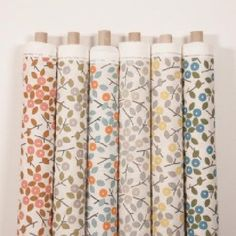 Beautiful Alegre fabric collection from Natasha Marshal has a mixture of Glasgow-made fabric patterns inspired by hot sauce flora for your interiors. Curtain Fabric, Curtains, Textile Fabrics, Roman Blinds, Fabric Patterns, Color Combos, Home Furnishings, Pink Brown, Blue Orange