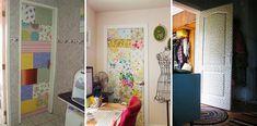 Porta estampada: ideias, fotos e como fazer #porta #decor #decoração #portas #cola #inspiração #tecido E Design, Entryway, Painting, Furniture, Home Decor, Decorated Doors, Necklaces, Block Prints, Tejido