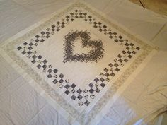Blue and White Family Memory Quilt