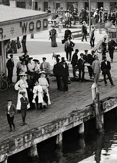 Circa 1906. Port Huron, Michigan..  I used to go there in the 1970's in my late teens and early 20's. It is interesting to see it in a different era