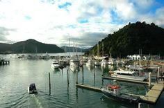 Picton marina Marlborough Sounds, South Island, Small Towns, New Zealand, To Go
