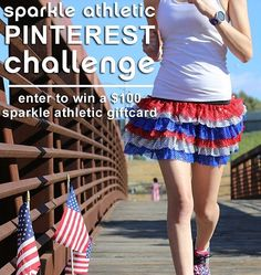 """Want a chance to win a $100 @sparkleathletic gift card? All you have to do is participate in our Pinterest challenge... create a """"4th of July Running Gear"""" Pinterest board and pin your favorite patriotic gear to be entered to win. Get all the details here: http://woobox.com/o634to (link in profile). We can't wait to see your creations #teamsparkle! #4thofjulyrunninggear"""