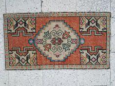 Persian Rug Small Oushak Rug Overdyed Turkish Rug Vintage