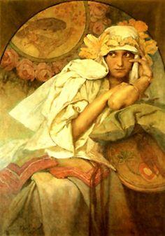 ❤ - Alphonse Mucha | Muse.