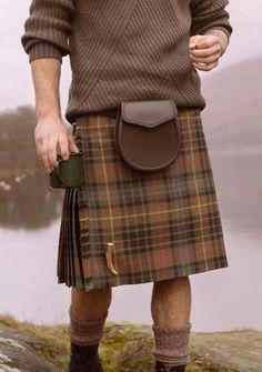 Stewart Hunting Weathered Tartan Custom Made Kilt Scottish Dress, Scottish Clothing, Scottish Man, Scottish Fashion, Kilt Wedding, Le Kilt, Tweed, Style Anglais, Tartan Kilt