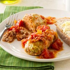 Classic Cabbage Rolls Recipe from Taste of Home -- shared by Beverly Zehner of McMinnville, Oregon