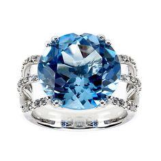 Blue Topaz + Diamonds