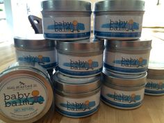 Our Baby Balm has a new look! Gently Effective, Joyfully Natural for your baby's delicate skin! Our Baby, Coffee Cans, Natural Skin Care, New Baby Products, The Balm, Delicate, Food, Essen, Meals
