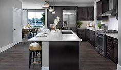 There's a lot to love about this clean, contemporary kitchen in Costa Mesa, CA! | Lenox plan by Richmond American