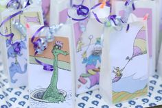 """Dr. Seuss """"Oh the Place's You'll Go"""" party favor bags, package of 12 on Etsy, $14.50"""