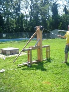 Floating Arm Trebuchet, Girl Tied Up, School Building, Project Ideas, Projects, Weapon, Students, Product Launch, Community