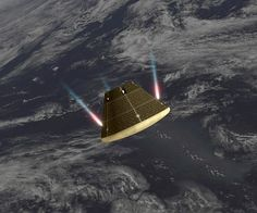 Rapid re-entry into the atmosphere at speeds close to 32,000km/h_ Images Captured by Orion