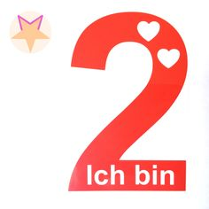 Ich bin 2 mit Herzchen