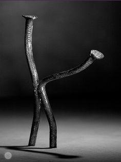 "speedracerman: ""speak-softly-my-love: ""Twisted 💖💖 "" Nailed "" Creative Photography, Art Photography, Sculpture Art, Sculptures, Gothic Wallpaper, Miniature Photography, Steel Art, Art Story, Scrap Metal Art"