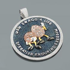 Family guy stewie pendant made with color 655 ct diamonds and color diamond custom pendant by itshot aloadofball Images