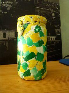 petit vase  Wtaer color mosaïc