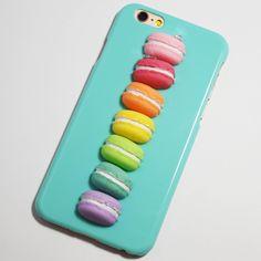 Blue 3D Rainbow Macarons iPhone 6 / 6S Case