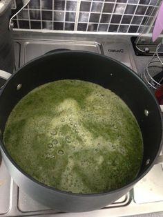 Teki Martei's spinach, mushroom and turkey soup2 on July 21, 2017.