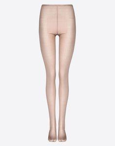 Valentino Ribbed Silk Pantyhose
