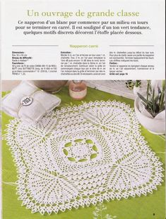 Art Au Crochet, Crochet Home, Crochet Tablecloth, Crochet Doilies, Doily Patterns, Crochet Patterns, Crochet Squares, Projects To Try, Creations