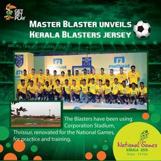 Cricket legend Sachin Tendulkar, co-owner of Indian Super League (ISL) franchise Kerala Blasters unveiled the football team's jersey and the anthem on 29th September at Cochin.