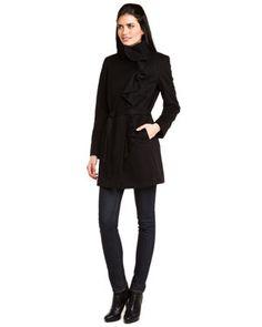 Winter Racing Coats: Tahari   More at http://www.fashionattheraces.com